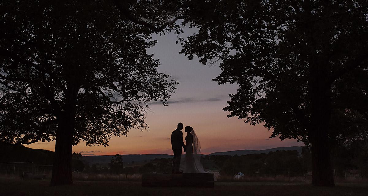 Melbourne best wedding photographer sunset wedding love happy couple