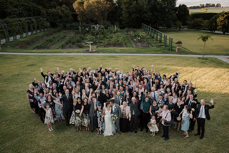 Coombe Estate Wedding Photography group shot