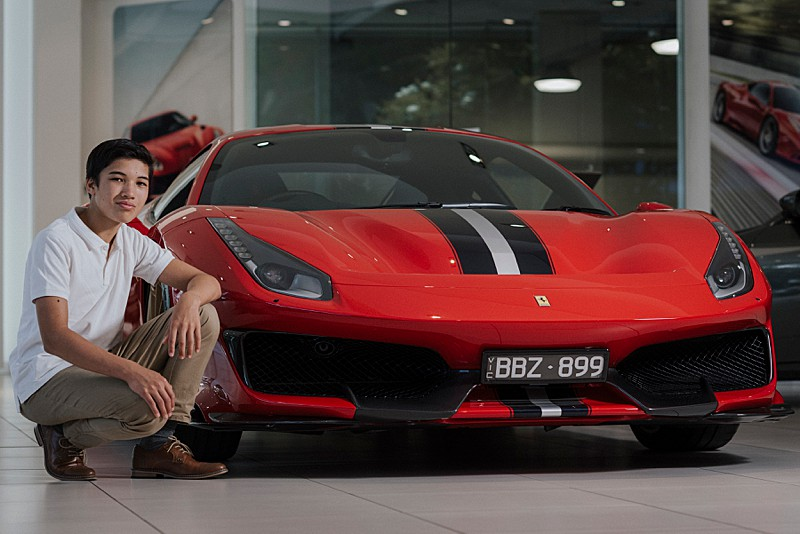 Ferrari racing car