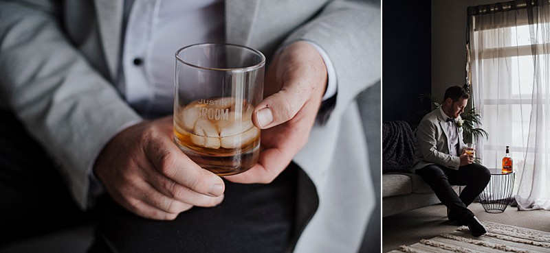 Groom Style bowtie whisky