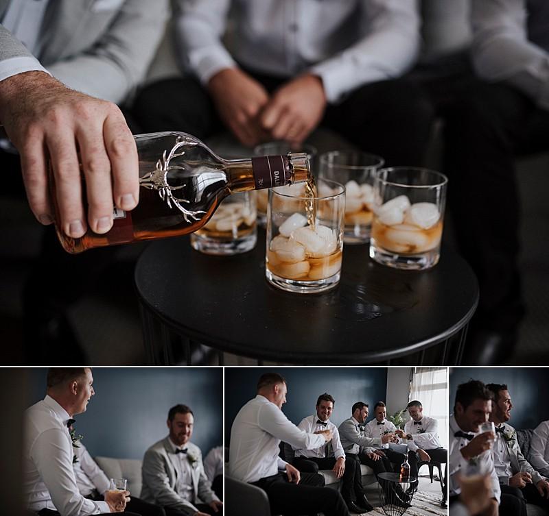 Groom Style groom crew bowtie whisky
