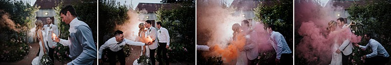 Smoke Bomb wedding photos